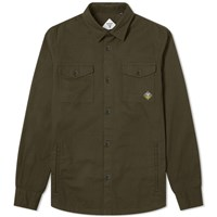 Barbour Beacon Twill Overshirt Green