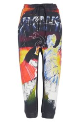 R 13 R13 Lars Metallica Print Sweatpants Black