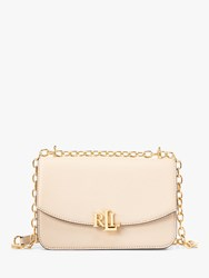 Ralph Lauren Elmswood Madison 22 Leather Cross Body Bag Light Sand