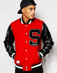 Supreme Being Supremebeing Varsity Jacket Red