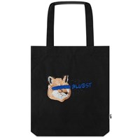 Maison Kitsune X Ader Error Fox Head Tote Black