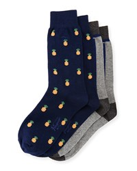 Penguin Pineapple Two Pack Sock Set Navy Multi