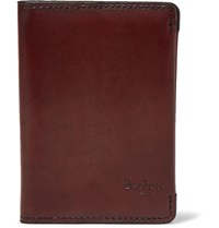 Berluti Leather Bifold Cardholder Burgundy