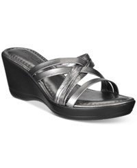 Easy Street Shoes Tuscany Luisa Wedge Sandals Women's Pewter