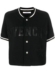 Givenchy Short Sleeve Baseball Jacket Cotton Polyamide Polyester Wool Black