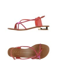 Lola Cruz Footwear Thong Sandals Women Fuchsia