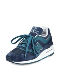 New Balance Men's 997 Suede And Mesh Sneaker Navy Castaway Blue