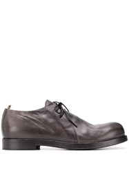 Officine Creative Distressed Derby Shoes Grey