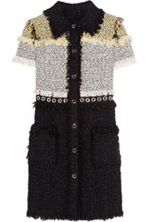 Lanvin Fringed Boucle Tweed Mini Dress Black
