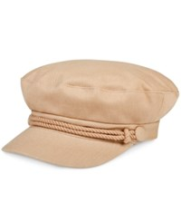 Nine West Canvas Newsboy Hat Tan