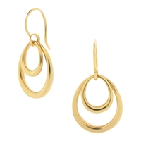 Dinny Hall Toro Double Hoop Hook Earrings Gold