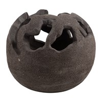 Amara Ball Candle Holder Brown