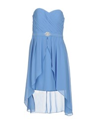 Musani Couture Short Dresses Sky Blue
