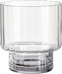 Cb2 Top Heavy Optic Double Old Fashioned Glass