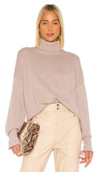 Autumn Cashmere Boxy Mock Neck Sweater In Pink. Pink Opal