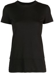 Vera Wang Double Layer T Shirt Black