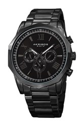 Akribos Xxiv Men's Swiss Quartz Multifunction Bracelet Watch Black