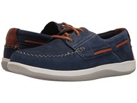 Cole Haan Boothbay Boat Shoe Marine Blue Nubuck Men's Lace Up Casual Shoes