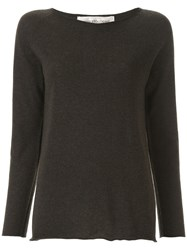 Lamberto Losani Scoop Neck Jumper Brown