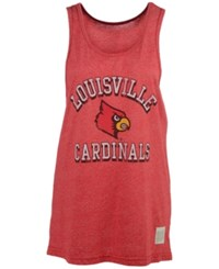 Retro Brand Men's Louisville Cardinals Arch Mascot Mock Twist Tank Red