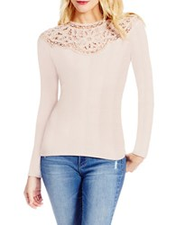 Jessica Simpson Adora Long Sleeve Lace Top Pink