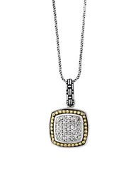 Effy Diamond 925 Sterling Silver And 14K Yellow Gold Pendant Necklace