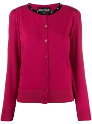 Boutique Moschino Contrast Cardigan Pink