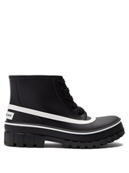 Givenchy Glaston Lace Up Rubber Rain Boots Black