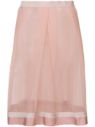 Moncler Sheer Panelled Skirt Pink And Purple