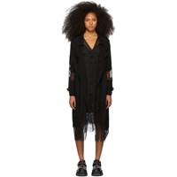 Mcq By Alexander Mcqueen Black Lace Trench Coat