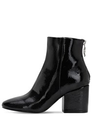 Steve Madden 70Mm Faux Patent Leather Ankle Boots Black