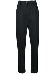 Rundholz Drop Crotch Skinny Trousers Black