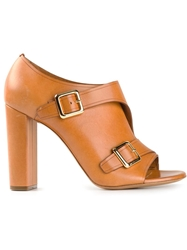 Chloe Chloe Monk Strap Booties Brown