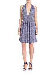 M Missoni Lurex Space Dye Halter Dress Violet