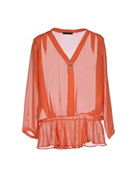 Pinko Black Blouses Orange