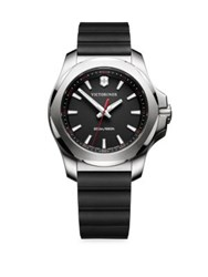 Victorinox I.N.O.X. Round Stainless Steel Analog Watch Black