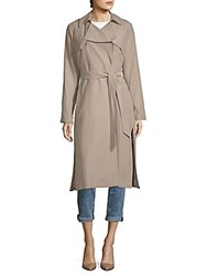 Cole Haan Notch Lapel Belted Trench Coat Sand