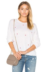 Sundry Little Hearts Cashmere Sweater White