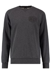 Deus Ex Machina Tokio Address Crew Sweatshirt Charcole Marle Dark Grey