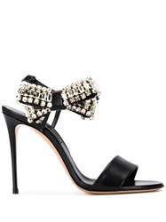 Casadei Bow Luxe Sandals Black