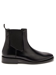 Balenciaga Evening Leather Chelsea Boots Black