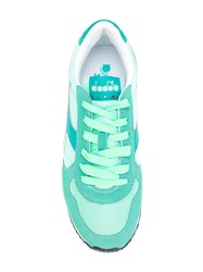 Diadora Panelled Sneakers Women Suede Polyester Tactel Rubber 41 Green