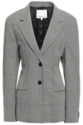 3.1 Phillip Lim Woman Prince Of Wales Checked Wool Blend Blazer Gray