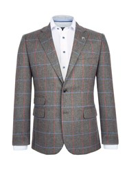 Paul Costelloe Men's Collins Checked Wool Jacket Green
