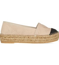 Kg By Kurt Geiger Mellow Leather Espadrilles Nude