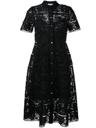 Zimmermann 'Gossamer' Lace Shirt Dress Black