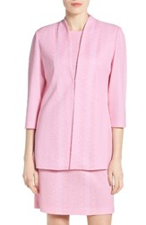 Ming Wang Women's Texture Knit Mandarin Collar Jacket