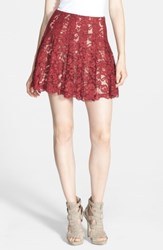 Astr Lace Flare Skirt