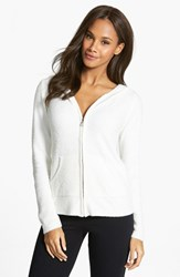 Women's Barefoot Dreams Front Zip Hoodie White