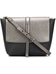 Brunello Cucinelli Two Tone Flap Satchel Grey